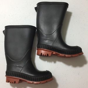 Other - Black Rain Boots for kids size 6